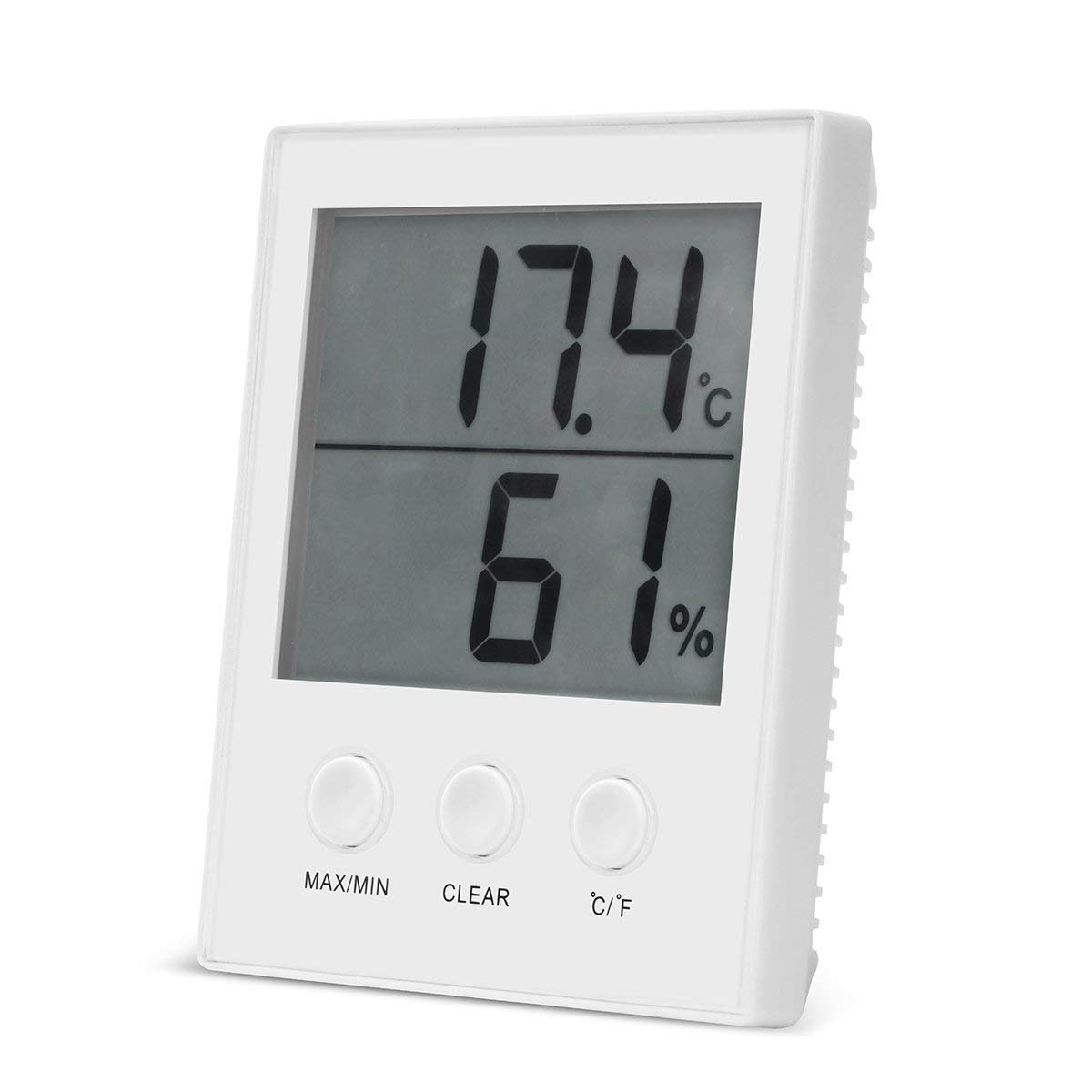 Digital Hygrometer Thermometer, Indoor Wall Hanging Thermometer Humidity Gauge and Thermometer Humidity Monitor