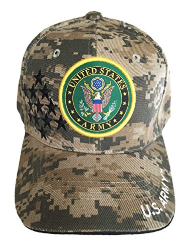[U.S. Military Army Cap Officially Licensed Sealed (Camouflage Stars)] (Hats 4 U)