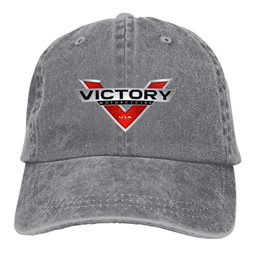 Victory Motorcycles Adjustable Hat Denim Fabric Baseball Caps ()