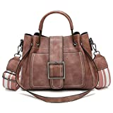 New Retro Women's Leather Shoulder Bags With Corssbody Bag&Handbag by VESNIBA