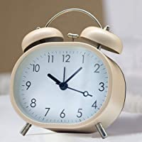 Maxspace Small Table Clocks, Super Silent Non-Ticking Cute Alarm Clock Battery Operated Desk Clock with Backlight HD…