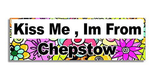 kiss-me-im-from-chepstow-car-sticker-sign-decal-bumper-sign-5-colours-flowers