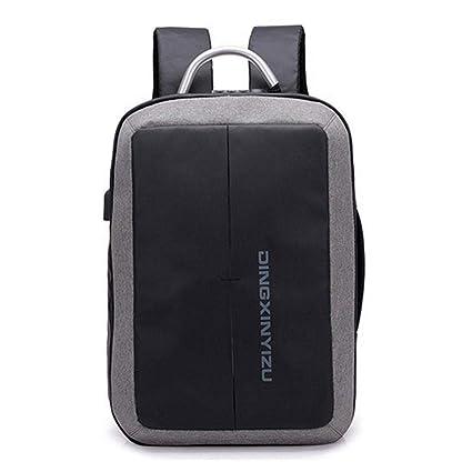 AOLVO Mochila de Viaje para Ordenador portátil o portátil, para Negocios, antirrobo, con