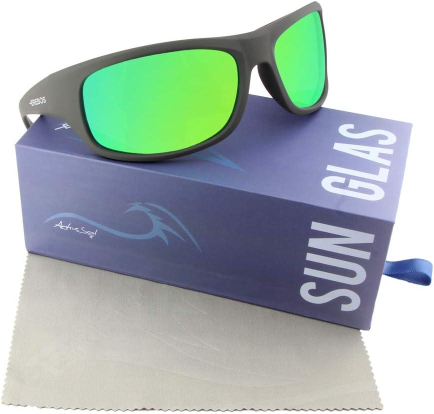 Bei Photophobie 24 Gramm Berge und Meer Herren Damen Sport-Sonnenbrille UV 400 Schutz F/ür Extreme Sonne 4 besonders dunkel Cat EREBOS Sonnenbrille polarisiert