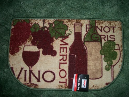 Grapes & Wine Kitchen Slice Rug (Grapes And Wine Rugs compare prices)
