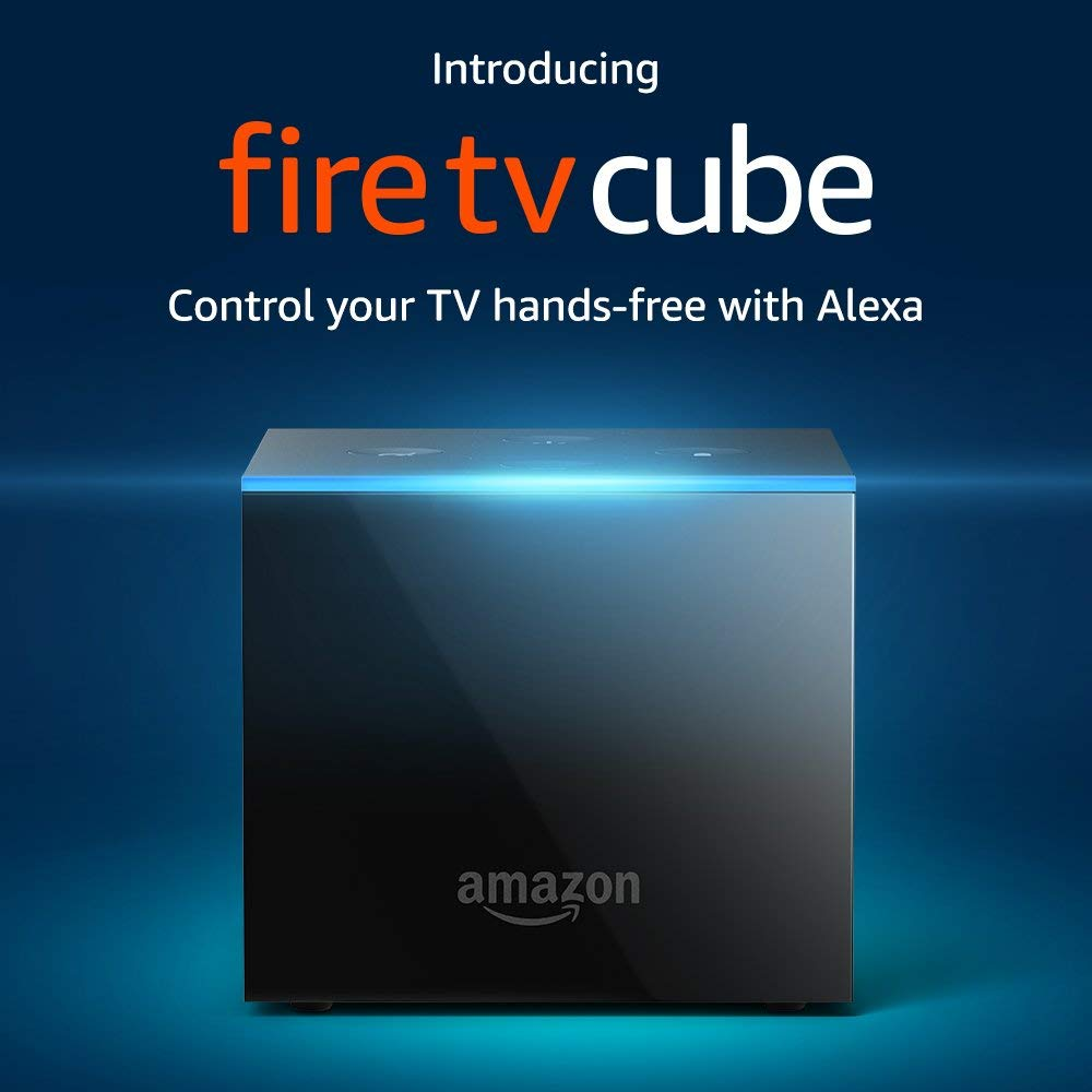 Amazon Fire TV Cube, hands-free with Alexa and 4K Ultra HD