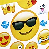 CharmTM Emoji set of 2 Party Tablecloths Plastic 71'' X 42.5'' Emoji Party Essentials by
