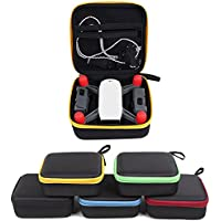 Joint Vcitory Spark Storage Bag Handheld Mini Case Waterproof Hardshell Handbag Portable Travel Aircraft Drone Body and Battery Bag for DJI Spark Quadcopter Drone (Red Zipper)