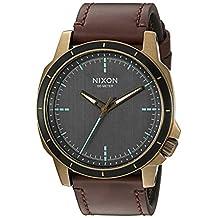 Nixon Men's 'Ranger Ops' Quartz Leather Watch, Color:Brown