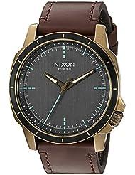 Nixon Mens Ranger Ops Quartz Leather Watch, Color:Brown (Model: A9142373-00)