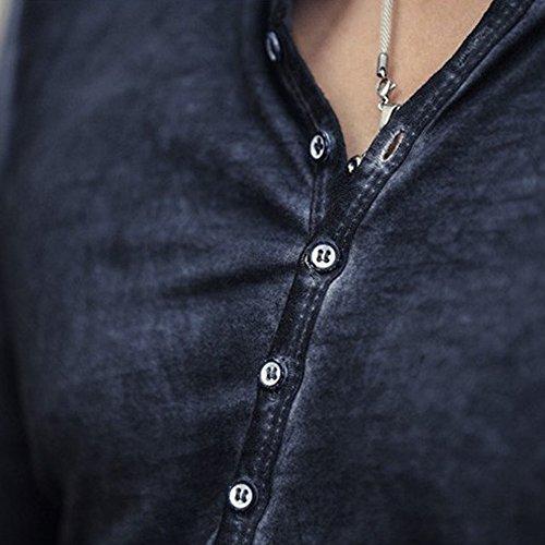 ... Hombre Creativa con Cuello Redondo Algodón Casual Camisa T Shirt Básica Impresión Slim Fit chándal Sudaderas T-Shirt riou: Amazon.es: Ropa y accesorios