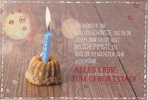 Geburtstagskarte   Glückwunschkarte Geburtstag mit Spruch \