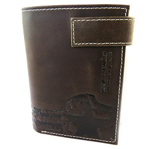 'Mundi'brown 74'' 4 5 wallet 12 leather European 92''x3 vintage cm 5x9 qfnC6