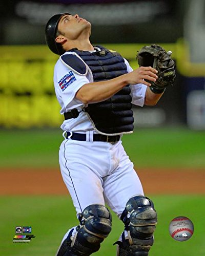 (Ivan Rodriguez Detroit Tigers 2006 World Series Action Photo (Size: 8