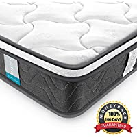 Single Mattress, Inofia Hybrid Pocket Spring Foam Bed Mattress with 7 Zoned Support System, Twin