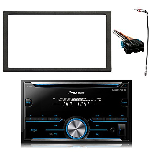 Pioneer Double DIN Bluetooth MIXTRAX CD Receiver, Enrock Double DIN Install Dash Kit, Metra Radio Wiring Harness, Enrock Antenna Adapter (Select 1994-2005 Vehicles)