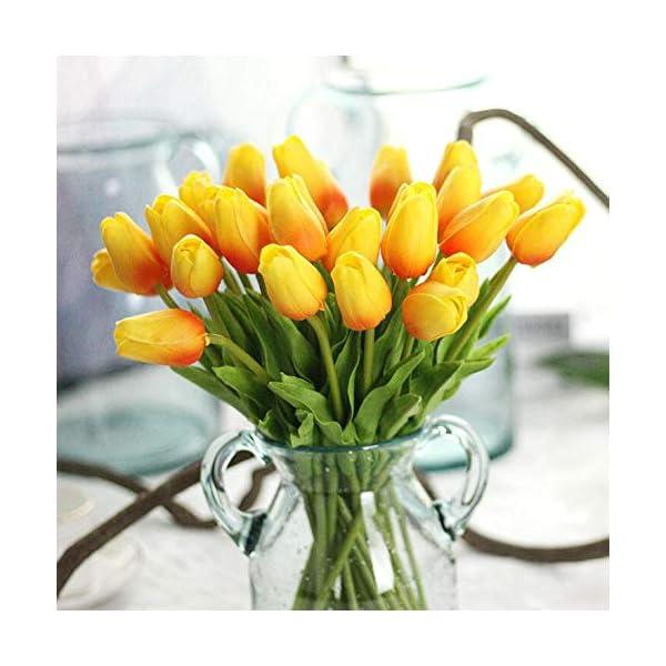 CoronationSun – Tulip Artificia – 21pcs/lot Tulip Artificial Flower Bouquet Flowers for Home Wedding Decorative