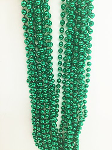 GiftExpress 1 Dozen Mardi Gras Beads (Green) -