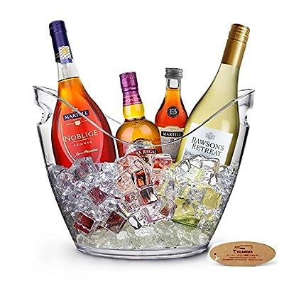 Yobansa 8L Acrylique Grand Seau à Glace, Seaux à Champagne Seau à Champagne Seau à Vin, Récipient De Stockage De Fruits…