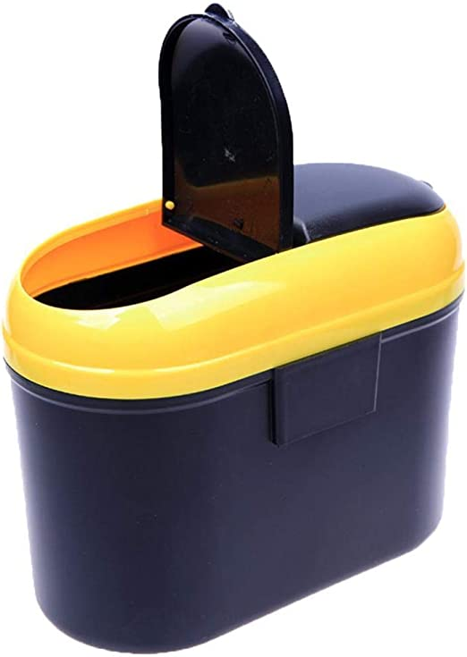 Etuoji Dual Side Lid Car Vehicle Plastic Trash Can Garbage Bin Storage Box Garbage Cans