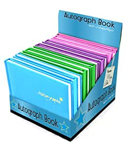Tallon - Libreta para autógrafos con caja de presentación, color rosa, morado, verde y azul