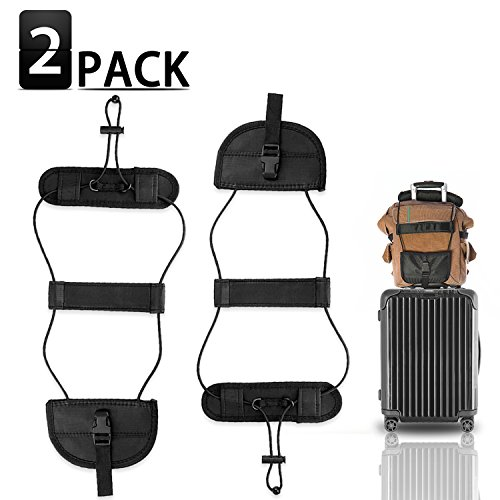 Bag Bungee,2Pack Luggage Straps with Adjustable Travel Suitcase Belt,Lightweight and Durable,Providing a Big Space for - Luggage Secure Strap