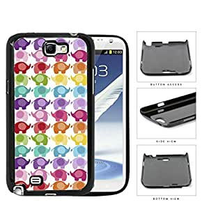Colorful Mini Baby Elephant Pattern Hard Plastic Snap On Cell Phone Case Samsung Galaxy Note 2 II N7100 by runtopwell