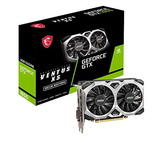 MSI NVIDIA GeForce GTX 1650 D6 VENTUS XS OCV2 grafische kaart '4 GB GDDR6, 1620 MHz, 128-bit, PCI Express x16 Gen 3…