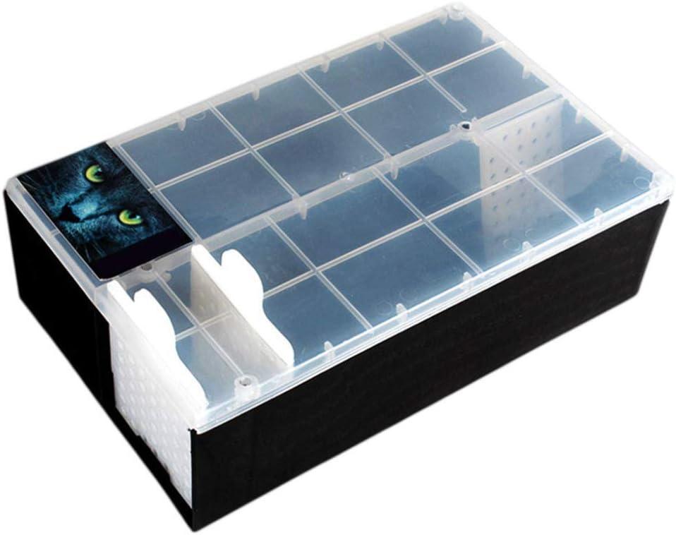 Garneck Trampa para Ratones Receptor automático de Ratas Ratones continuos Reutilizables Asesino de Caja de Captura de roedores para el hogar