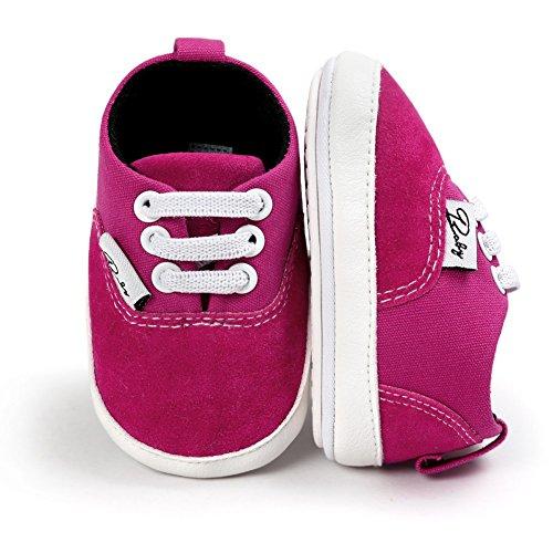 BOBORA Bebe Ninos Ninas Primera Zapatos Color Solido Antideslizantes Zapatos Para Caminar rosa