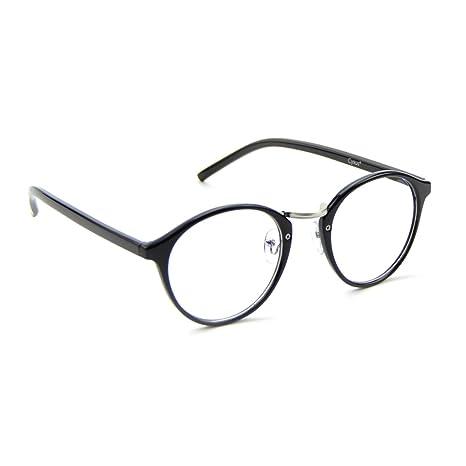 fb650f59b3 Cyxus vidrios ordinarios retro redondo marco [transparente lente] gafas  unisexo(hombres/mujeres