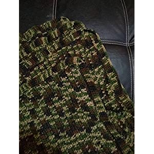 Image of Home and Kitchen Hand crochet camo throw blankets