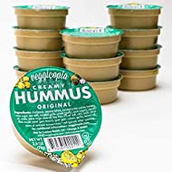 Veggicopia Creamy Original Hummus | Classic flavor with a hint of garlic and lemon - All Natural, Gluten-free, Dairy-free, Vegan, High Protein Snack. Shelf Stable. 2.5 oz dip cups (Pack of 12)