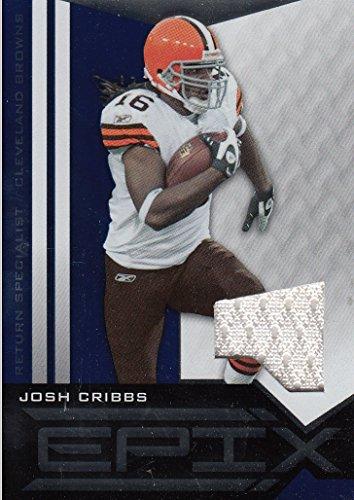 Josh Cribbs Jersey - 2010 Epix Epix Jerseys Blue #77 Josh Cribbs Game-Worn Jersey Card