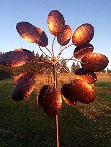 Garden Kinetic Wind Spinner: Bronze Leaves