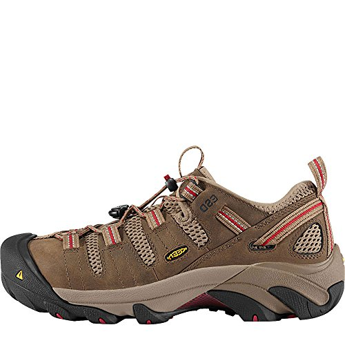 KEEN Utility Women's Atlanta Cool Steel Toe Shoe,Shitake/Chili Pepper,8.5 M US by KEEN Utility