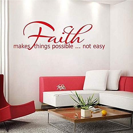 La fe hace las cosas posibles pegatinas de pared de vinilo ...