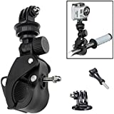 Oumers Handlebar Mount For Gopro Sports Camera, Bike Bicycle Motorcycle Roll Bar Mount Pole Mount with Long Screw for Gopro HD, Hero 4 session , Hero 4 3+ 3 2 1, For GoPro Camera Accessories