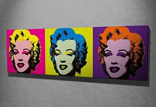 Color Marilyn Monroe (LaModaHome Decorative Canvas Wall Art (12