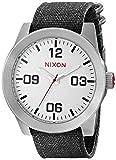 NIXON A243-100 Men's Corporal, Analog Display Quartz Watch, Grey Canvas Band, Round 48mm Case
