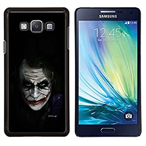 Eason Shop / Premium SLIM PC / Aliminium Casa Carcasa Funda Case Bandera Cover - Personajes de Películas Bat Broma Negro - For Samsung Galaxy A7 ( A7000 )
