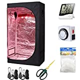 Hydro Plus Grow Tent Setup Kit 36''x20''x63'' Indoor Plants Growing Dark Room + Hydroponics Growing System Accessories (36''x20''x63'' Kit)