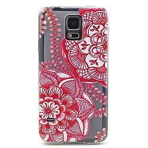 SHOUJIKE Flowers TPU Soft Back Case for Samsung Galaxy S5 I9600