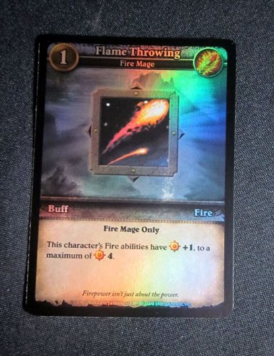 (16) World of Warcraft WoW Miniatures Flame Throwing Foil Promo - Fire Mage (Flame Throwing)