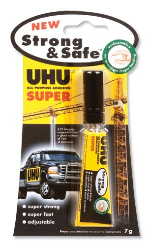 UHU ALL PURPOSE ADHESIVE SUPER Strong & Safe (7g)