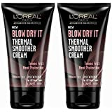 L'oreal Paris Advance Hairstyle Blow Dry It Thermal Smoother Cream, 5.1 Ounce (Pack of 2)