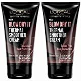 L'oreal Paris Advance Hairstyle Blow Dry It Thermal Smoother Cream - 5.1 Oz (...