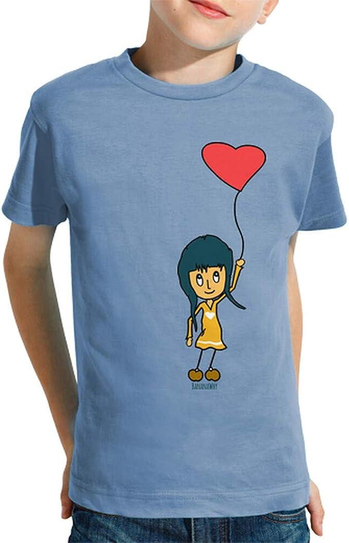 latostadora - Camiseta Corazon para Nino y Nina Celeste XXL: hello: Amazon.es: Ropa y accesorios