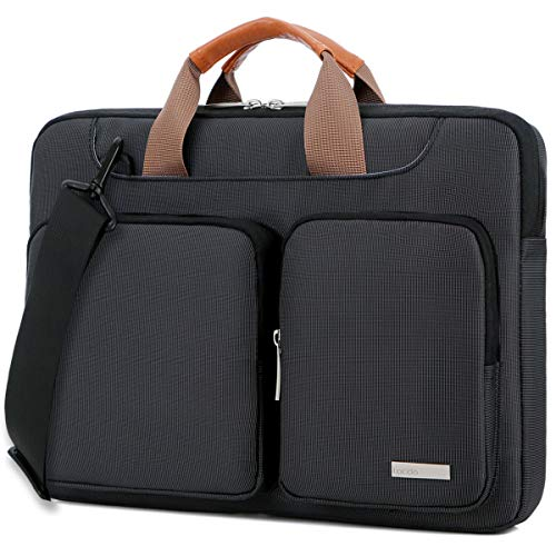 op Shoulder Bag, 360° Protective Sleeve Case Compatible Acer Aspire, Predator, Toshiba, Dell Inspiron, ASUS P-Series, HP Pavilion, Lenovo, Chromebook Notebook Briefcases, Black ()