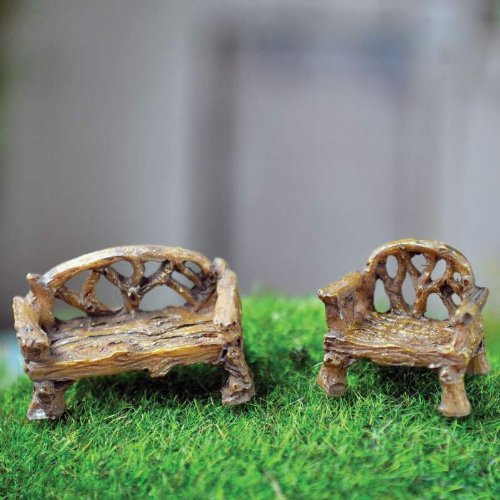 Fiddlehead Fairy Village Micro Bench product image